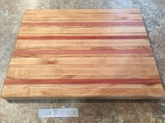 Artisan Crafted Solid Maple Hardwood Cutting Board with Exotic Eucalyptus Hardwood Details, Wedding, Anniversary Gift Ready To Ship
