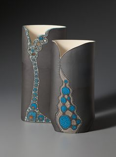 Vases - Sasha Ceramics - inlays inspired by microscopic organisms