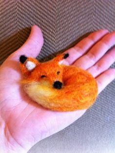sleeping fox by UrchinThreads on Etsy, $24.00