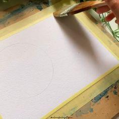 Watercolor Art Face, Watercolor Art Lessons, Watercolor Paintings For Beginners, Watercolor Video, Watercolor Beginner, Diy Canvas Art, Drawing, Inspiration, Ideas