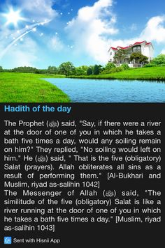 Hadith of the day I learnt this in 5 grade :) <3                                                                                                                                                                                 More