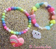 Kawaii Pastel Rainbow Heart & Cloud by TheCrochetingRaven on Etsy