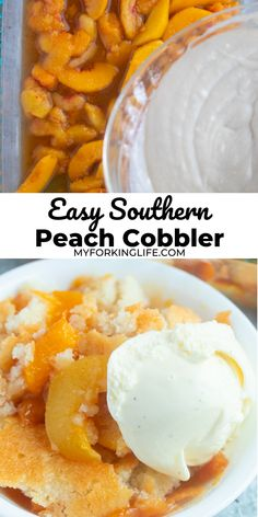 This recipe is an easy way to create and enjoy a  homemade classic Southern delight. Whether you use fresh or frozen peaches you can still create a beautifully homemade dessert. Peach Cobbler Cake, Southern Peach Cobbler, Fruit Cobbler, Tart Recipes, Best Dessert Recipes, Fun Desserts, Southern Recipes, Southern Food, Canned Peaches