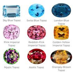 Gemstones For Sale, Pink Gemstones, Rare Gemstones, Minerals And Gemstones, Red Topaz, Topaz Color, Diamond Gemstone, Gemstone Colors, Topaz Jewelry