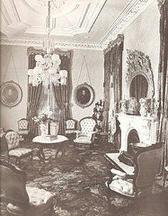 """Parlor interior 1870's"""