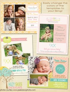 Mini Session - Photography Special Marketing Template - AD5678. $20.00, via Etsy.