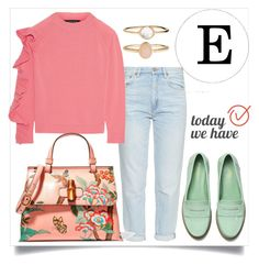 """""""BODY SHAPE by TODAY WE HAVE E"""" by kotynska-zielinska ❤ liked on Polyvore featuring M.i.h Jeans, Paper London, Gucci and Accessorize"""