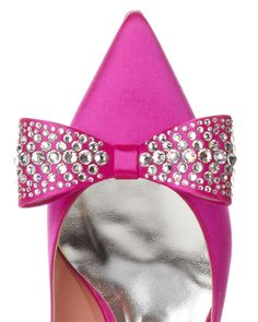 Buy Rochas Women's Pink Bow-embellished Point-toe Pumps, starting at $315. Similar products also available. SALE now on!