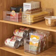 These containers are perfect for storing pantry items in cabinets and deep drawers Food Storage Containers, Storage Bins, Compact Refrigerator Freezer, Fridge Organisers, Freezer Storage, Cook Up A Storm, Home Hardware, Pantry Organization, Home Kitchens
