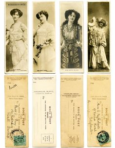 Printable antique Bookmark freebies