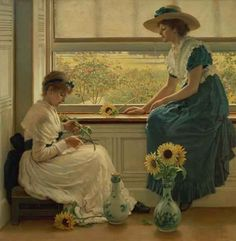 """Sun and Moon Flowers"""" 1890 - George Dunlop Leslie (1835-1921)"""
