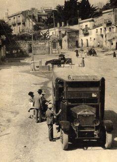 Antico bus - Piazza Villagrazia Palermo - Foto gentilmente donata dal Conte Naselli.