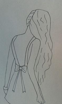 Tekenen: Meisje tekenen, de achterkant van haar!! ❤❤