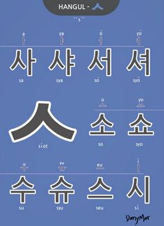 "usually pronounced ""s"" but it's ""sh"" before Korean Words Learning, Korean Language Learning, Learning Languages Tips, Foreign Languages, South Korean Language, Learn Korean Alphabet, Hangul Alphabet, Korean Handwriting, Learn Hangul"