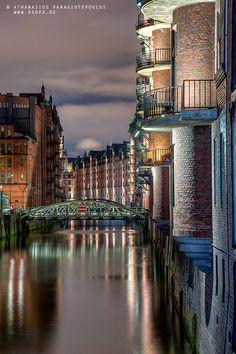 Hamburg, Germany - my home town #speicherstadt #sun #hamburg #docks #skyline < repinned by www.BlickeDeeler.de