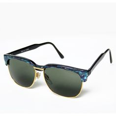 Vintage Griffin Wayfarer Sunglasses in Blue Mosaic ($28) ❤ liked on Polyvore