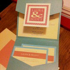 Sweetheart Pocketfold Wedding Invitation <3 by MemoriesShop.co.uk