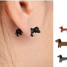 Cheap jewelry consultant, Buy Quality earings directly from China jewelry stores earrings Suppliers: new black/white/gold fashion Piercing Ear animals jewelry vintage dog Earrings For Women men Punk Rock, Cool 3d, Black White Gold, Vintage Dog, Animal Jewelry, Women's Earrings, Piercings, Vintage Jewelry, Gold Fashion