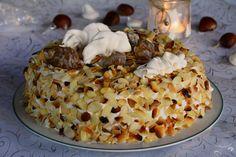 Une idée de dessert de fêtes : un merveilleux marrons glacés composé de meringue, chantilly et crème de marron. Un dessert léger, croquant et crémeux !