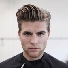 2016 Men's Hairstyles - Longer Natural Hair Slick Pomp