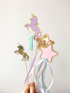 Excited to share the latest addition to my shop: Unicorn Centerpieces Sticks Baby Girl First Birthday Party Rainbow Birthday Centerpieces Gold Unicorn Baby Shower Table Decoration Green Party Decorations, Birthday Table Decorations, Baby Shower Table Decorations, Birthday Centerpieces, Rainbow Birthday, Unicorn Birthday Parties, Unicorn Party, First Birthday Parties, First Birthdays