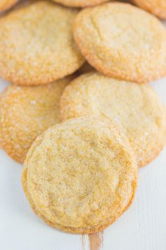 Easy Brown Sugar Cookies are soft, chewy, and simple to make. Made with just a few ingredients, these cookies are filled with a buttery, caramel flavor and are so delicious! Brown sugar cookies are similar to a sugar cookie, but with a richer flavor. If you've never tried baking with just brown sugar in your cookie recipe, then you must try these. In fact, I love swapping out granulated sugar for brown sugar in a lot of my dessert recipes.