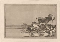 Goya - Desgracias acaecidas en el tendido de la plaza de Madrid, y muerte del alcalde de Tor rejon - Francisco de Goya - Wikipedia, la enciclopedia libre
