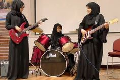 Five students at the Higher Colleges of Technology at Al Ain started the first Emirati all-girl rock band! Read more here:http://www.thenational.ae/news/uae-news/meet-the-first-all-emirati-all-girl-rock-band