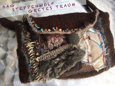 Handtasche - TASCHE, STEPPENWOLF,fake fur,braun, - ein Designerstück von GretesTraum bei DaWanda