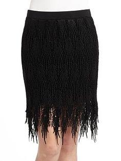 Vivienne Tam, Lace Fringe Skirt, $197.50