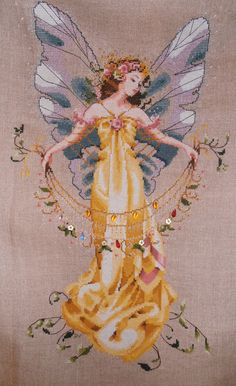 """Adia - the Garden Fairy.  "". A mirabillia design. Loved doing this"