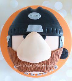 Steeler Dan Cake Sheffield Steelers mascot Cake Designs By Deborah Sheffield Steelers, Hockey Cakes, Cakes For Boys, Cake Designs, Riding Helmets, Cake Decorating, Ice Hockey, Stuff To Buy