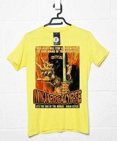 Deathray B Movie T Shirt - Ninjapocalypse - Yellow / Medium