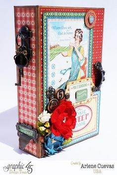 Butterfly Kisses & Paper Pretties: Home Sweet Home Album and Altered Box #graphic45 - Sept 2015