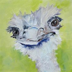 SUZIE O AND ANGUS O TWO OSTRICH PAINTINGS SOLD BEFORE THEY WERE OUT OF THE GATE! - Original Fine Art for Sale - © Saundra Lane Galloway