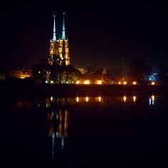 Ostrów Tumski nocą. My favorite place in Wro)