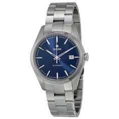 Rado Hyperchrome Automatic Blue Dial Steel and Ceramic Men's Watch - Hyperchrome - Rado - Watches - Jomashop Luxury Watches, Rolex Watches, Watches For Men, Rolex Watch Price, Rado, 3 O Clock, Hand Watch, Omega Watch, Bracelet Watch