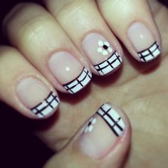 Cute French manicure variation
