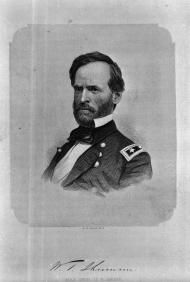 Major William T. Sherman led Union forces through North Carolina during his infamous march through the South. Image courtesy of the North Carolina Office of Archives and History, Raleigh, N.