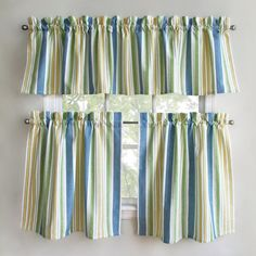 Curtain Valance Topper Window Treatment 52x15 Ocean By HomeLiving | Cape Cod  | Pinterest | Curtain Valances, Valance And Window