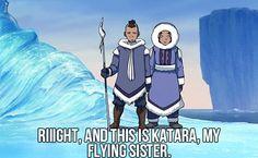 This is Katara, my flying sister