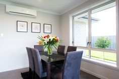 Dining in style and comfort with a heatpump and a view.