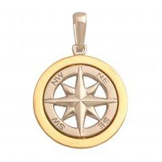 Złota zawieszka RÓŻA WIATRÓW Pocket Watch, Watches, Accessories, Jewelry, Jewels, Jewlery, Wristwatches, Jewerly, Schmuck