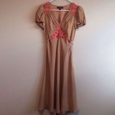 Betsy Johnson dress ...classic vintage Classic vintage style Betsey J dress! Only worn once! Exveelnt condition like new! Sp pretty with lace ariund shoulders and between breast Betsey Johnson Dresses Midi