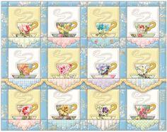 Carol Wilson Stationery Teacup Quilt Note Card Portfolio #PinTeaTuesday