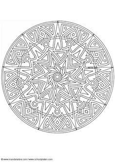 Coloring Page Mandala 1702w Doodle Mini Print Art