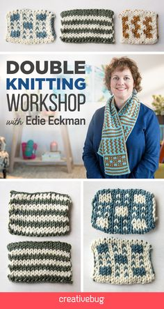 Double knitting is one of those techniques that may seem out-of-reach to the average knitter. In my Double Knitting Workshop from Creativebug, I'll give you all the skills you need to get started with double knitting. Affilate link