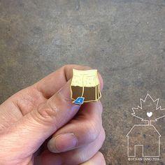 Tea Bag: 14k Gold Plated Lapel Pin