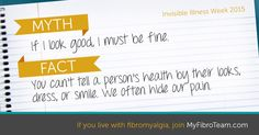 Fibro is Invisible!! (If you live with #fibromyalgia, join MyFibroTeam.com to meet others like you.)