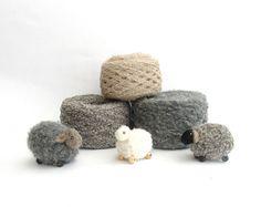 Set of Yarn 3 skein   boucle Gray alpaca Yarn natural. by Dindon, €15.00